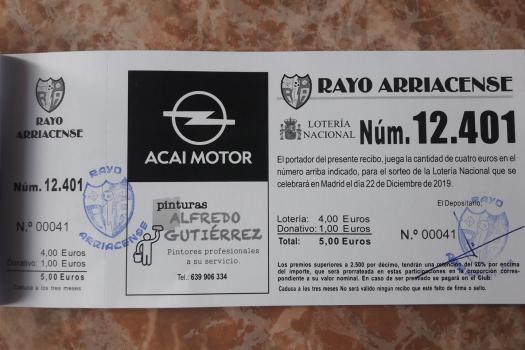 Nota informativa Rayo Arriacense.