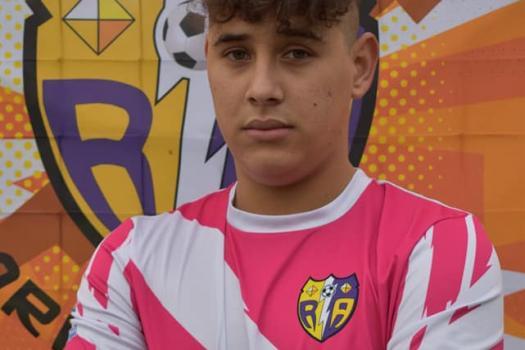 Jugador del partido, Rayo juvenil, pinturas Alfredo Gutierrez....