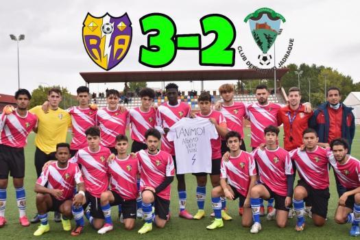 Rayo Arriacense 3-2 Jadraque. Hasta en 2 ocasiones se nos complicó un partido que debíamos haber controlado con mayor facilidad.